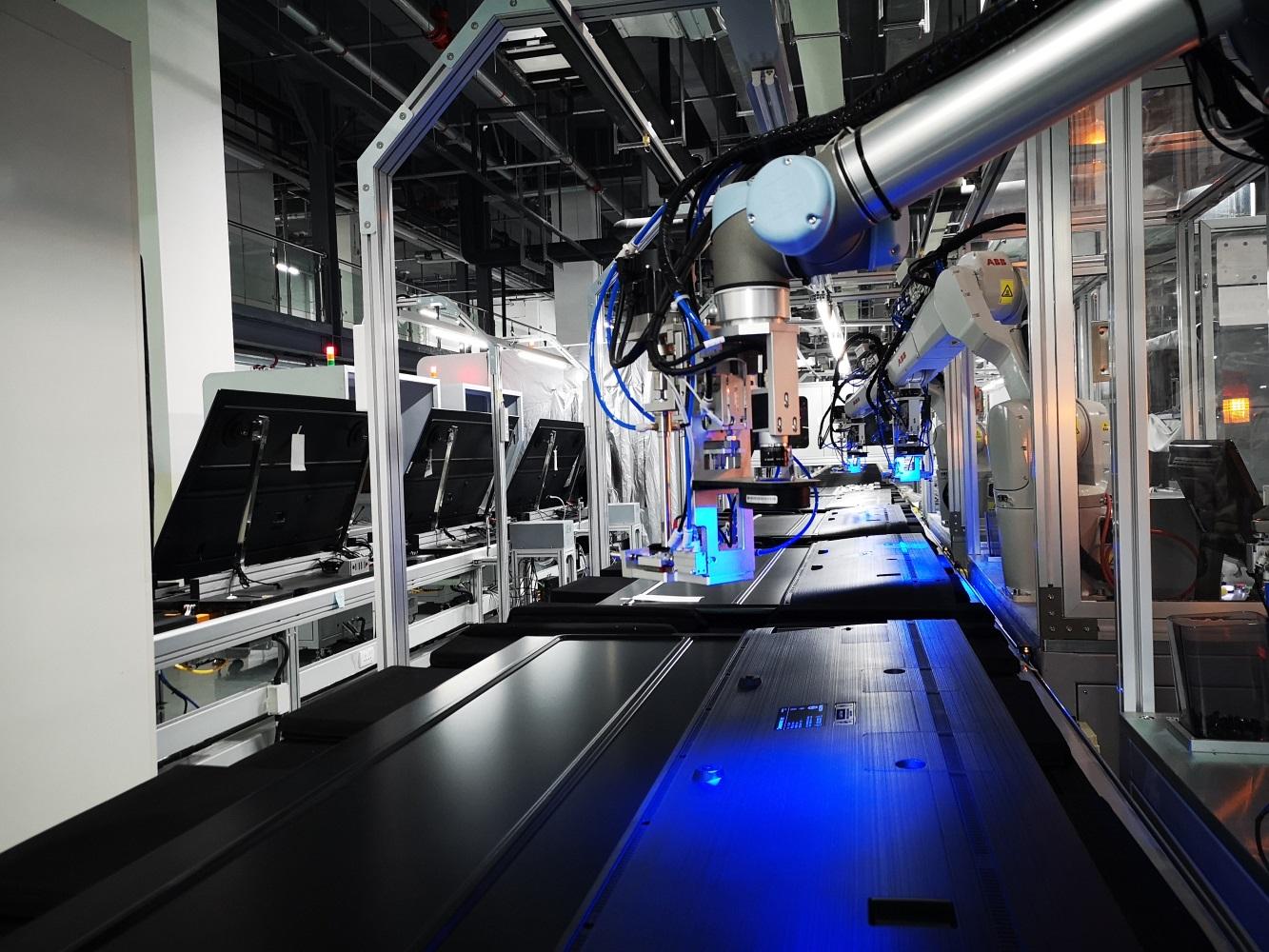 """效率提升60% 长虹""""5G+工业互联网""""生产线正式投产-视听圈"""