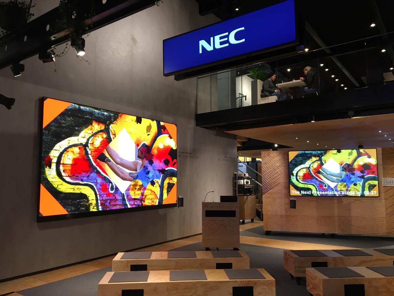 NEC闪亮ISE展 2万流明激光投影新品或将引爆市场-视听圈
