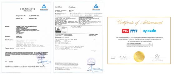 获德国莱茵TÜV权威双认证,TCL华星低蓝光显示解决方案到底牛在哪?-视听圈