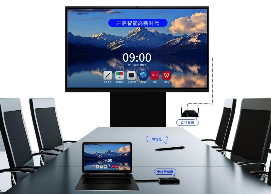桌子上的电脑  描述已自动生成